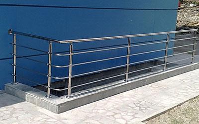 Inox railings